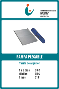 Rampa plegable